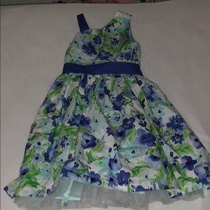 Blue and green flower dress